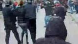 "Полицаи и протестиращи се сбиха на ""Раковски"""