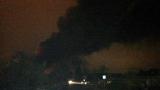 Огромен пожар бушува до пътя Равда - Несебър