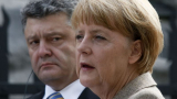 Остри критики срещу Маркел заради срещата ѝ с Порошенко