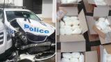Карък: Микробус с метамфетамини удари патрулка