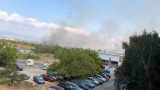 Ексклузивно и първо в БЛИЦ! Огромен пожар бушува в София СНИМКИ