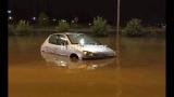Внимание, туристи: Порои удавиха Солун нощес, пътищата под вода! ВИДЕО