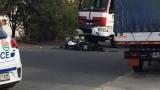 Моторист бере душа след зверско меле с пожарна край Слънчев бряг СНИМКА