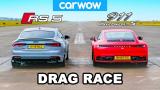 Брутален дуел между Audi RS5 и новия Porsche 911 ВИДЕО