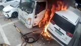 Зарядното на електромобил гръмна и предизвика голям пожар ВИДЕО
