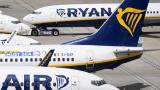 Самолет на Ryanair кацна аварийно в Солун заради пожар