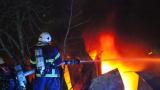 Голям пожар до хасковското с. Брягово