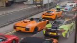 Полицаи разтуриха гонка на джигити с 45 елитни суперавтомобили ВИДЕО