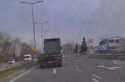 Терорист! Камион с ремарке изпреварва в Бургас със 100 км/ч