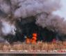 Гори емблематична сграда в Санкт Петербург, има загинал пожарникар ВИДЕО