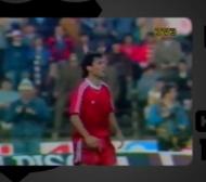 Христо Стоичков вкарва за ЦСКА срещу Барселона